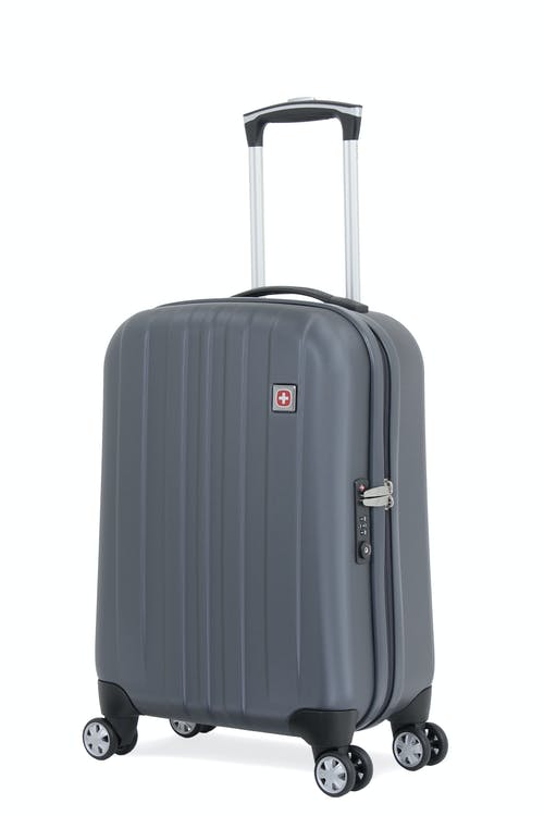 """Swissgear 6151 20"""" Deluxe Carry On Hardside Spinner Luggage - Grey"""