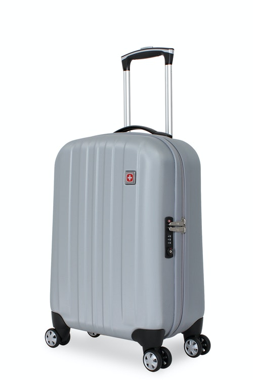 "SWISSGEAR 6151 20"" DELUXE HARDSIDE SPINNER LUGGAGE - PEWTER"