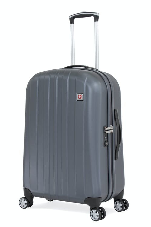 "SWISSGEAR 6151 24"" DELUXE HARDSIDE SPINNER LUGGAGE - GREY"