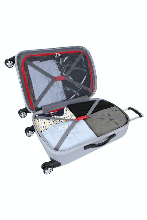 """SWISSGEAR 6151 24"""" DELUXE HARDSIDE SPINNER LUGGAGE FULLY LINED INTERIOR WITH TIE-DOWN STRAP"""
