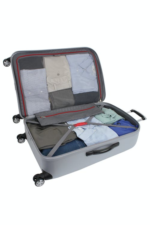 """SWISSGEAR 6151 28"""" DELUXE HARDSIDE SPINNER LUGGAGE FULLY LINED INTERIOR WITH TIE-DOWN STRAP"""
