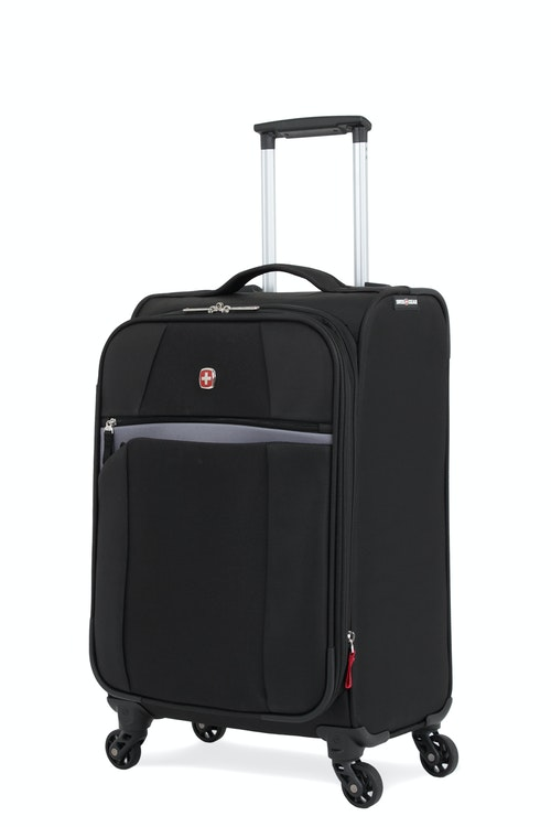 "SWISSGEAR 6165 20"" LITEWEIGHT CARRY-ON SPINNER LUGGAGE - BLACK"
