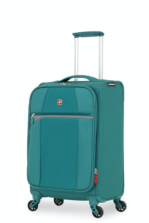 "SWISSGEAR 6165 20"" LITEWEIGHT CARRY-ON SPINNER LUGGAGE - TEAL/GREY"