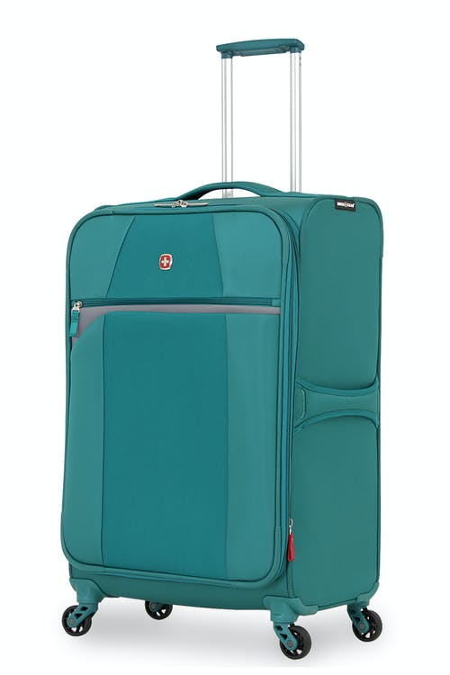 "SWISSGEAR 6165 24.5"" EXPANDABLE LITEWEIGHT SPINNER LUGGAGE -TEAL/GRAY"