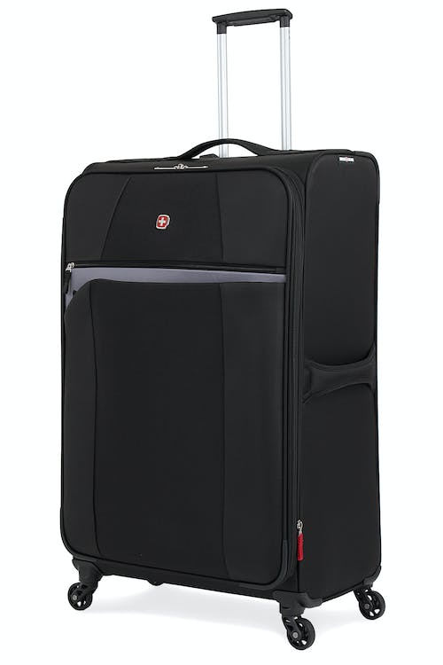 "SWISSGEAR 6165 28"" EXPANDABLE LITEWEIGHT SPINNER LUGGAGE  - BLACK"
