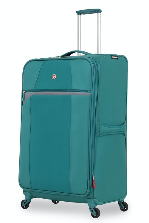 "SWISSGEAR 6165 28"" EXPANDABLE LITEWEIGHT SPINNER LUGGAGE - TEAL/GRAY"
