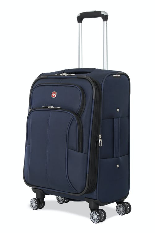 "SWISSGEAR 6182 20"" Expandable Deluxe Carry-On Spinner Luggage - Blue"