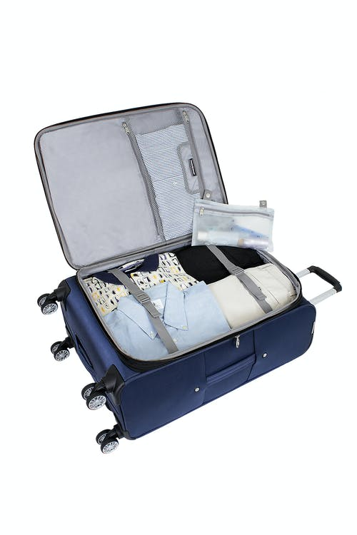 """SWISSGEAR 6182 24"""" DELUXE SPINNER LUGGAGE REMOVABLE ZIPPERED WET BAG"""