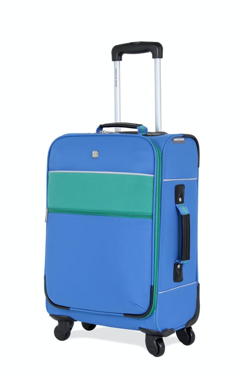 "SWISSGEAR 6186 20"" CARRY-ON SPINNER LUGGAGE - BLUE/GREEN"