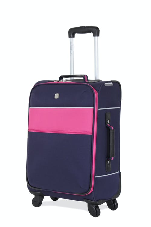 "SWISSGEAR 6186 20"" CARRY-ON SPINNER LUGGAGE - Navy/PINK"