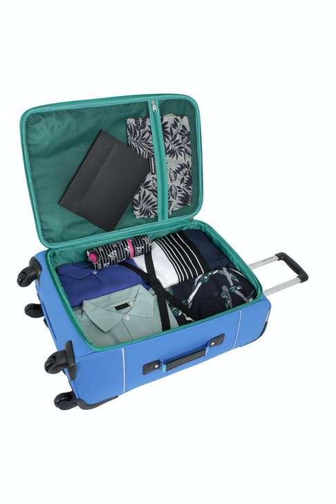 """SWISSGEAR 6186 24"""" SPINNER LUGGAGE TIE-DOWN STRAPS AND A LARGE STORAGE POCKET"""
