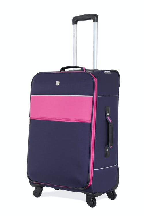 "SWISSGEAR 6186 24"" SPINNER LUGGAGE - NAVY/PINK"