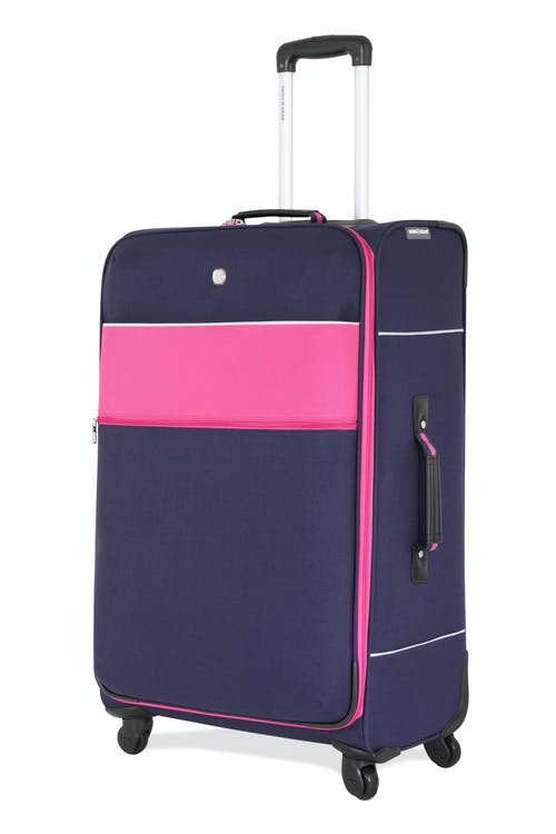 "SWISSGEAR 6186 28"" SPINNER LUGGAGE - NAVY/PINK"