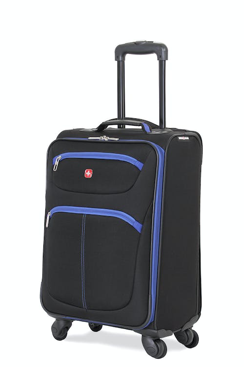 "SWISSGEAR 6190 20"" CARRY-ON SPINNER LUGGAGE IN BLACK-BLUE"