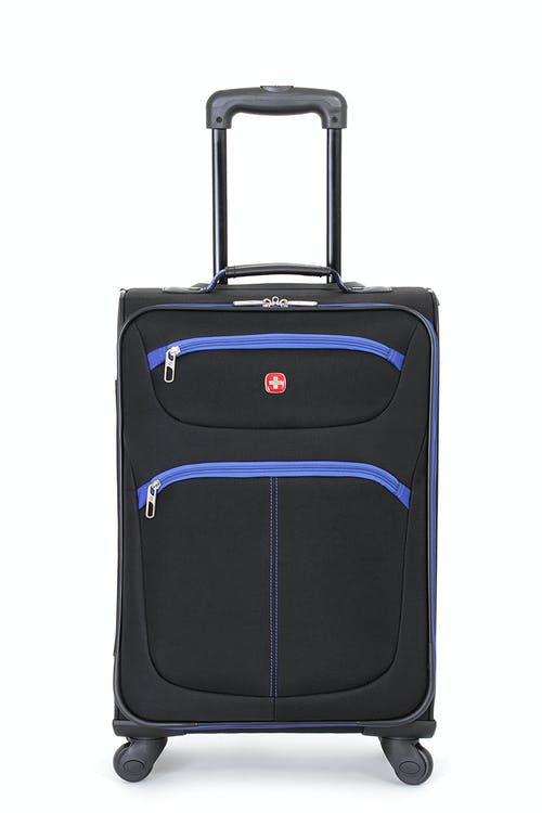 "Swissgear 6190 20"" Carry-on Spinner Luggage Two front panel pockets"