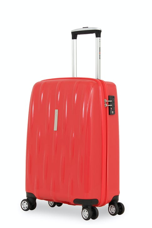 """SWISSGEAR 6191 20"""" HARDSIDE CARRY-ON SPINNER LUGGAGE  - RED"""