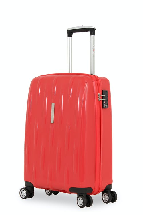 "SWISSGEAR 6191 20"" HARDSIDE CARRY-ON SPINNER LUGGAGE  - RED"