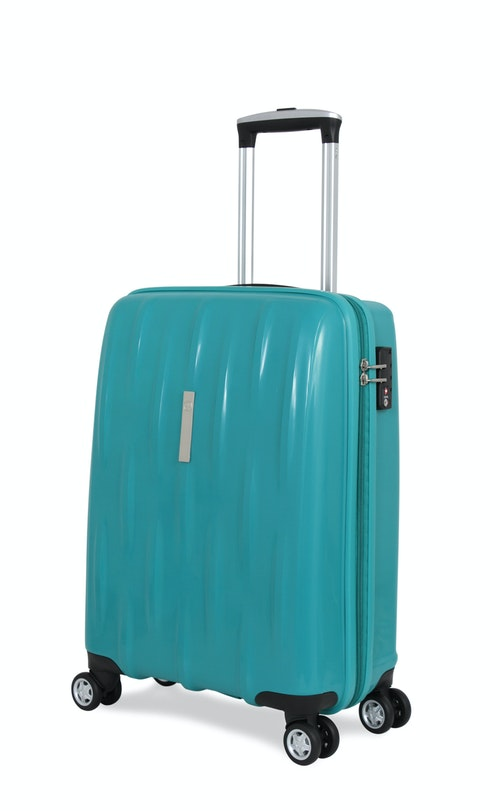 "SWISSGEAR 6191 20"" HARDSIDE CARRY-ON SPINNER LUGGAGE - TEAL"