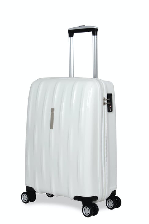 """SWISSGEAR 6191 20"""" HARDSIDE CARRY-ON SPINNER LUGGAGE  - WHITE"""