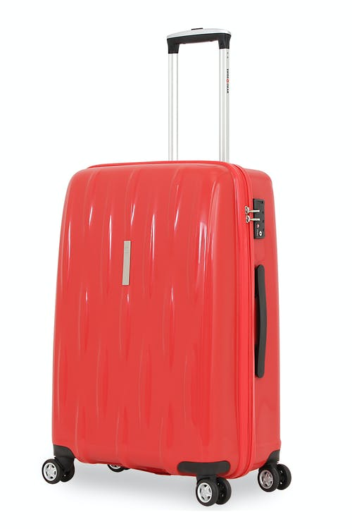 "SWISSGEAR 6191 24"" HARDSIDE SPINNER LUGGAGE - RED"
