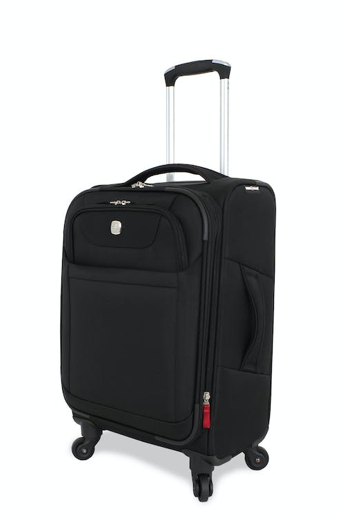 "Swissgear 6208 20"" Expandable Deluxe Spinner Luggage - Black"