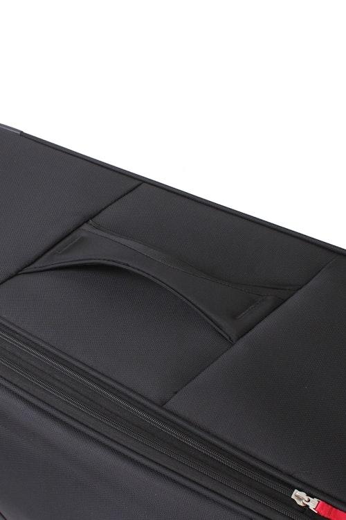 "SWISSGEAR 6208 20"" DELUXE SPINNER BLACK LUGGAGE  REINFORCED PADDED TOP & SIDE HANDLES"