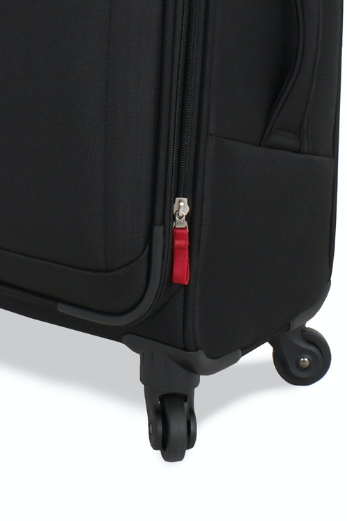 "SWISSGEAR 6208 20"" DELUXE SPINNER BLACK LUGGAGE 360 DEGREE SPINNER WHEELS"