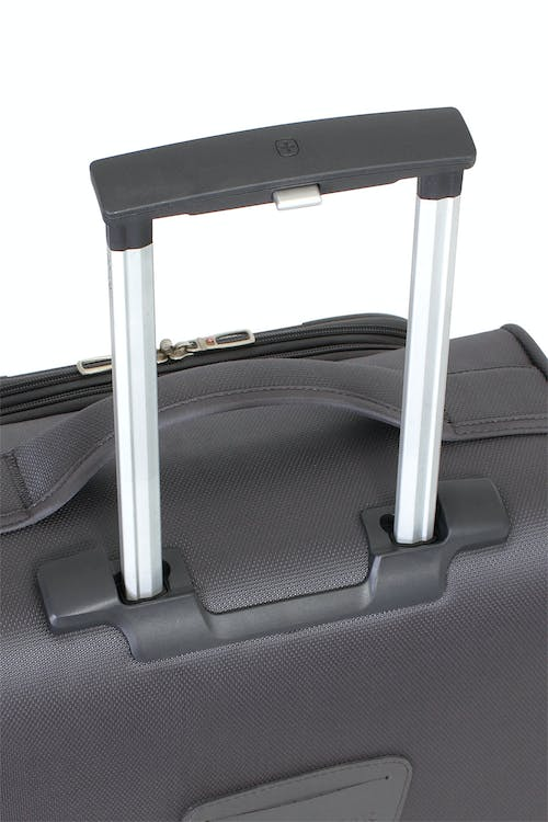 "SWISSGEAR 6270 20"" LITEWEIGHT SPINNER LUGGAGE ALUMINUM, PUSH BUTTON LOCKING TELESCOPIC HANDLE"