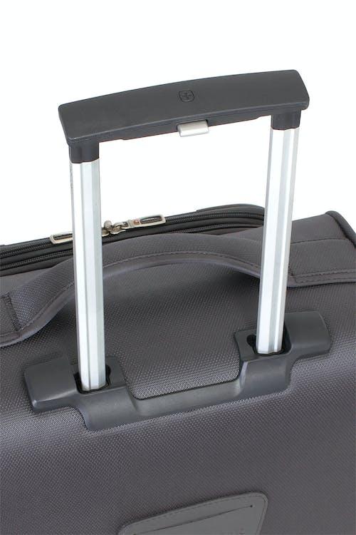 SWISSGEAR 6270 Expandable Liteweight Spinner Luggage 2pc Set Aluminum, push button locking telescopic handle