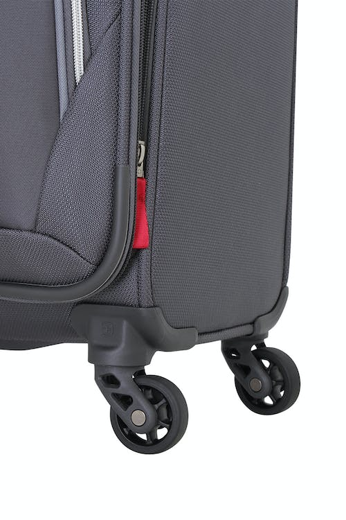 SWISSGEAR 6270 Expandable Liteweight Spinner Luggage 2pc Set Four 360 degree, multi-directional spinner wheels