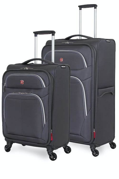 Swissgear 6270 Expandable Liteweight Spinner Luggage 2pc Set - Pewter