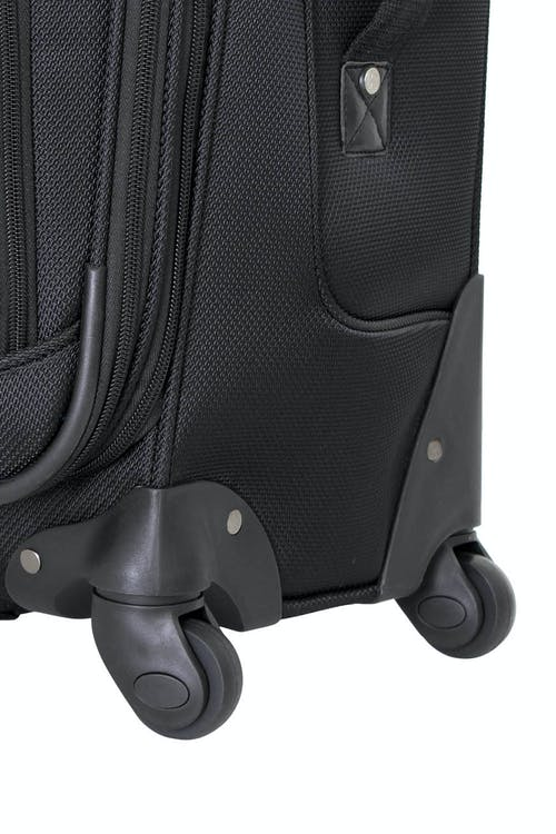 Swissgear 6283 Expandable Spinner Luggage Four 360-degree, multi-directional spinner wheels