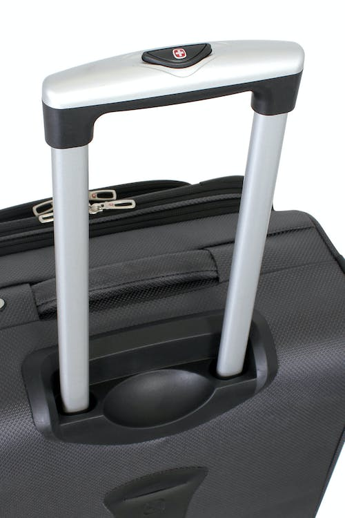 SWISSGEAR 6283 EXPANDABLE SPINNER LUGGAGE ALUMINUM PUSH BUTTON LOCKING TELESCOPIC HANDLE