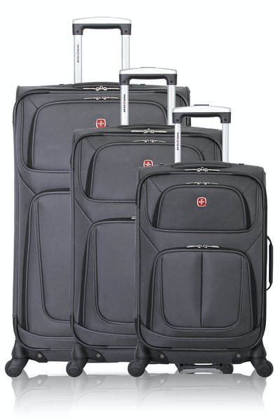 Swissgear 6283 Expandable Spinner Luggage 3pc Set - Dark Grey