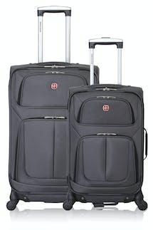 SWISSGEAR 6283 Expandable Spinner Luggage 2pc Set - Dark Gray