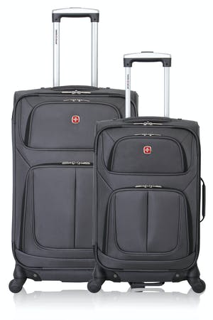 SWISSGEAR 6283 Expandable Spinner Luggage 2pc Set - Dark Gray