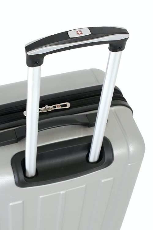 SWISSGEAR 6297 HARDSIDE SPINNER LUGGAGE ALUMINUM PUSH BUTTON LOCKING TELESCOPIC HANDLE