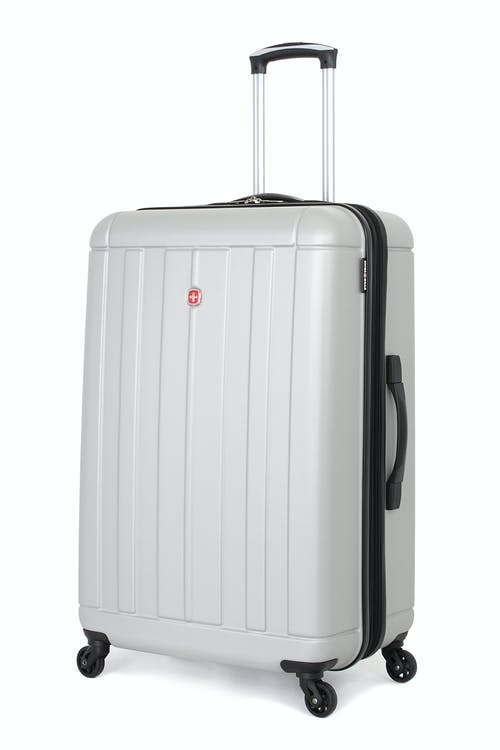 "SWISSGEAR 6297 24"" Expandable Hardside Spinner Luggage in Silver"
