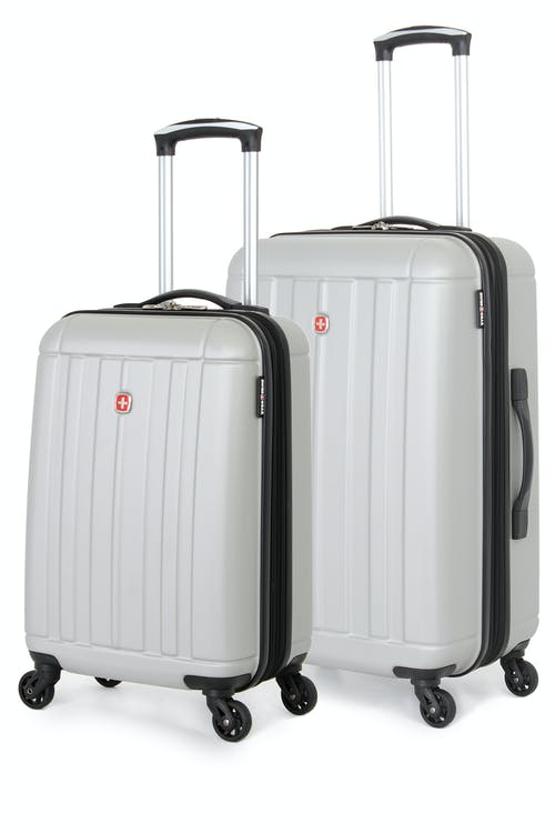 SWISSGEAR 6297 Expandable Hardside Spinner Luggage 2pc Set - Silver