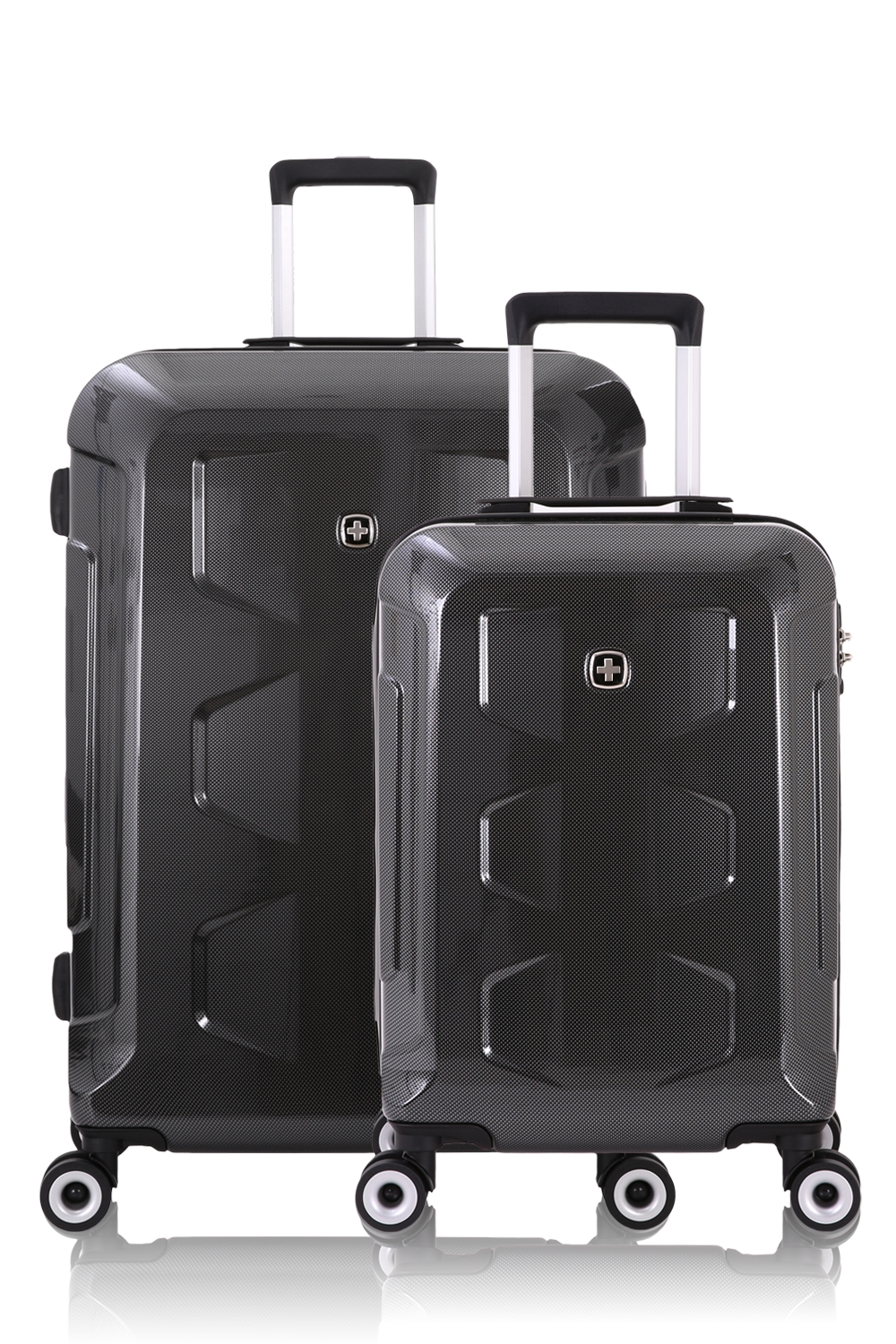 Swissgear 6572 Limited Edition Hardside Spinner Luggage 2pc Set - Black