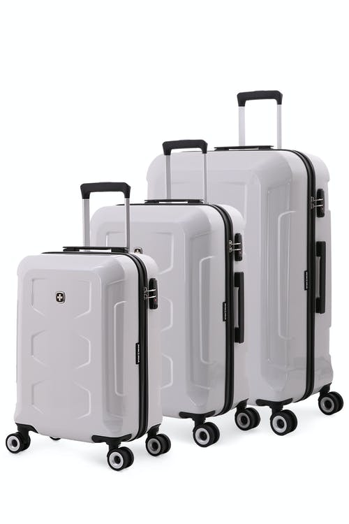 4e4a282c4fb5 Swissgear 6572 Limited Edition 3pc Hardside Spinner Luggage Set - White