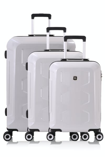 Swissgear 6572 Limited Edition Hardside Spinner Luggage 3pc Set - White