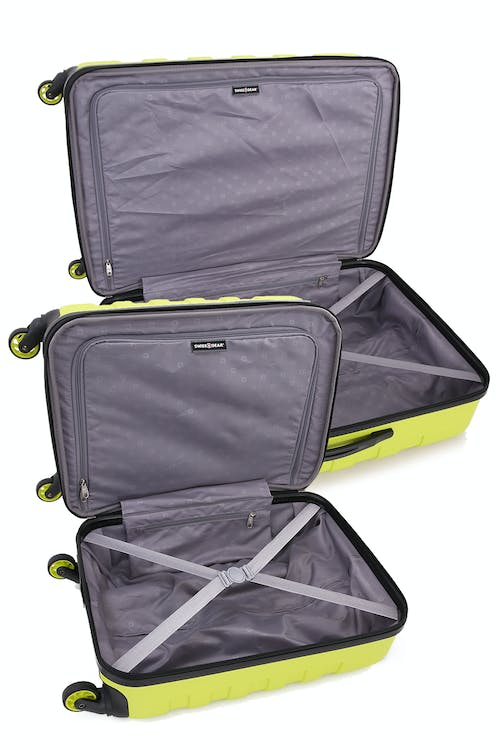 SWISSGEAR 6581 2pc Expandable Hardside Spinner Luggage Set Open View