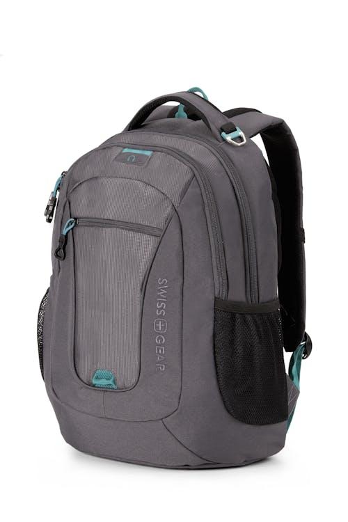 SWISSGEAR 6601 Laptop Backpack - Slate Cement/Raffia Teal