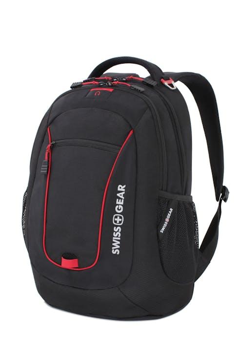 SWISSGEAR 6601 LAPTOP BACKPACK IN BLACK/RED