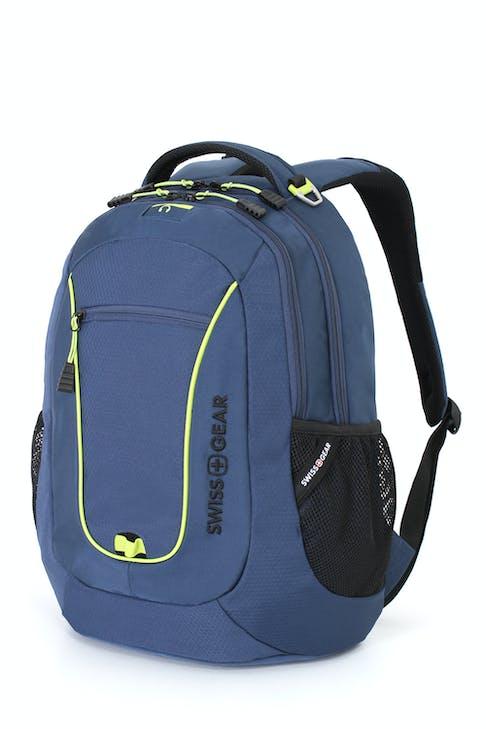 SWISSGEAR 6601 LAPTOP BACKPACK IN BLUE/LIME