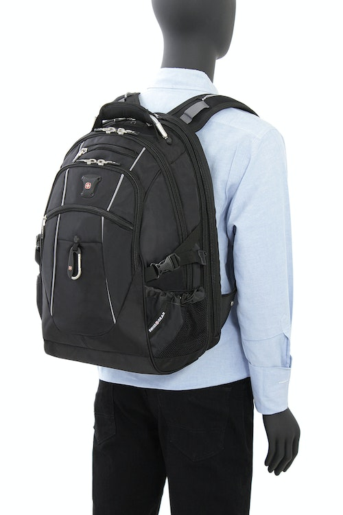 SWISSGEAR 6677 SCANSMART LAPTOP BACKPACK ERGONOMICALLY CONTOURED, PADDED SHOULDER STRAPS