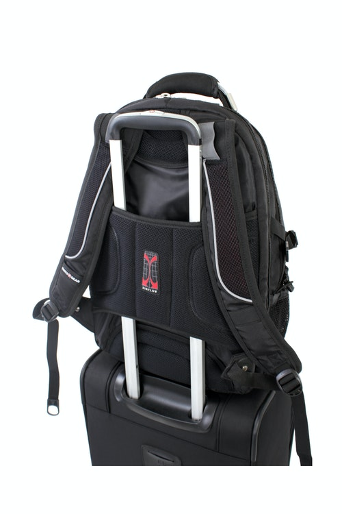 SWISSGEAR 6677 SCANSMART LAPTOP BACKPACK BUILT-IN ADD-A-BAG PANEL