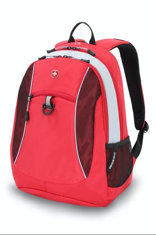 SWISSGEAR 6697 BACKPACK - RED/SILVER