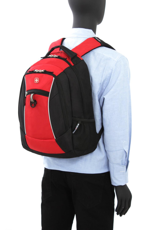 SWISSGEAR 6719 Backpack - Black/Red